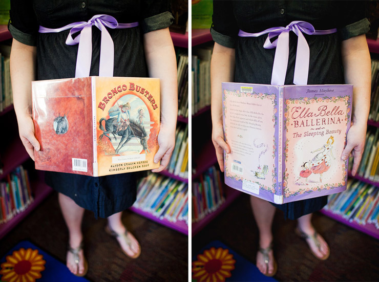 book themed maternity pictures