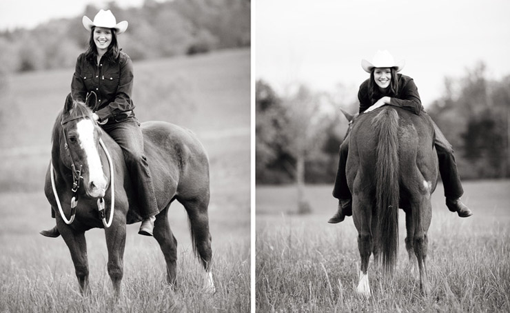 horse senior photos