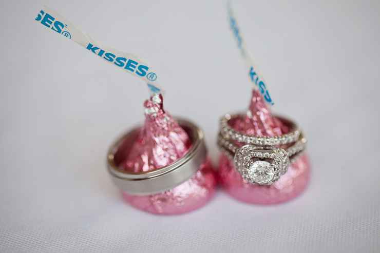 ring shot with hershey kisses