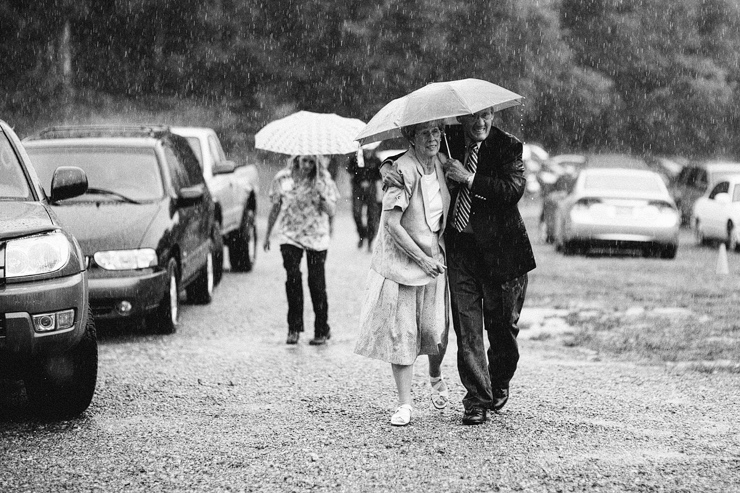 rainy weddings