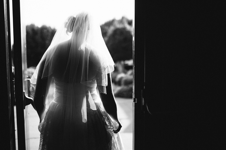 bride in door