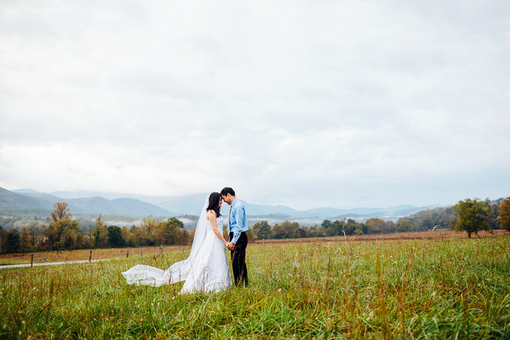 smoky mountain bridal photos