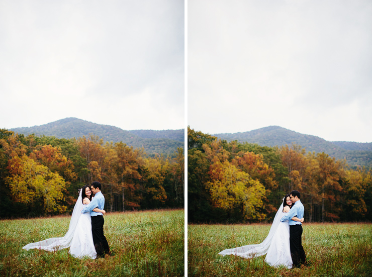 cades cove bridal photos