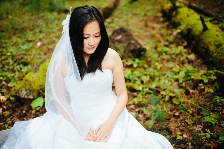 forest bridal session