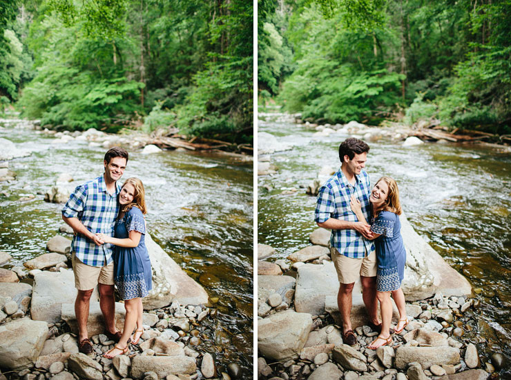 tennessee mountain engagement photos