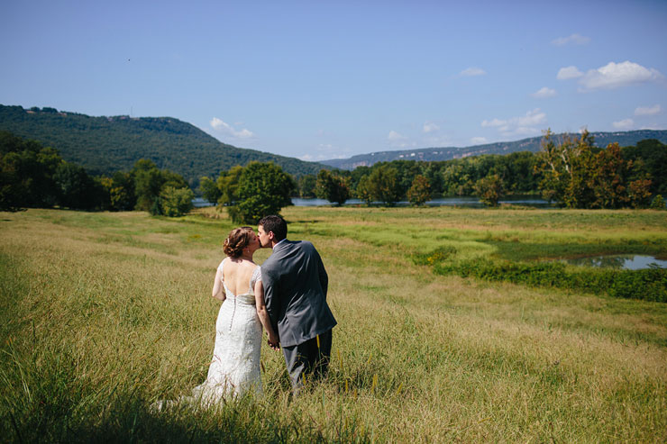 Tennessee river wedding