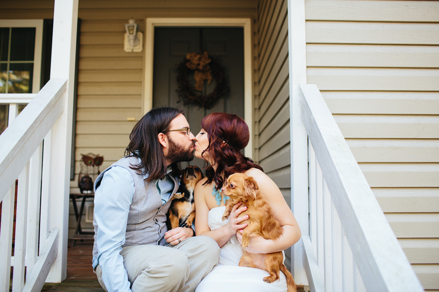 dogs at an elopement