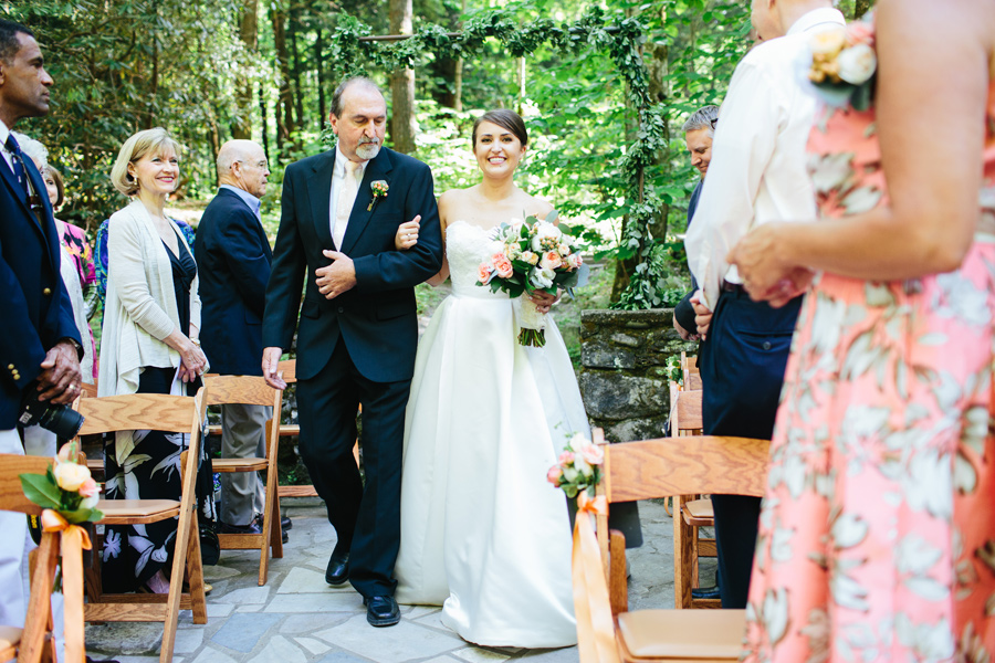 spence cabin wedding ceremony
