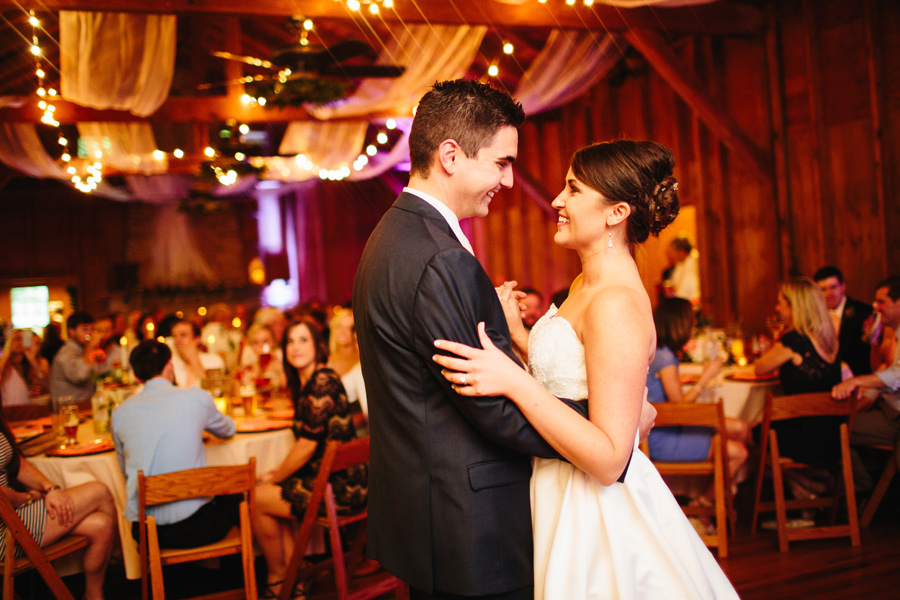 wedding reception at the appalachian clubhouse