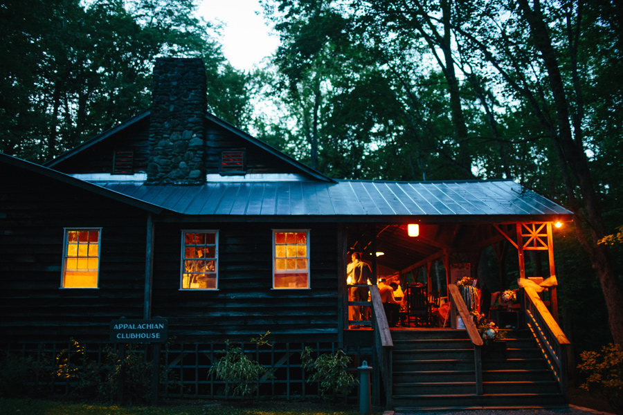 appalachian clubhouse at night