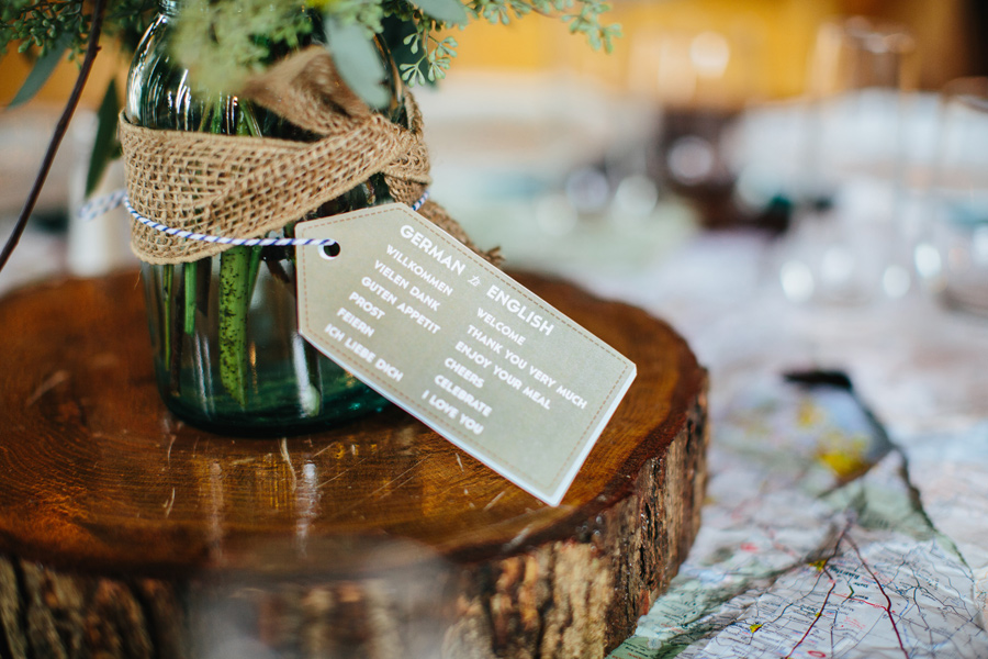 german american wedding decor