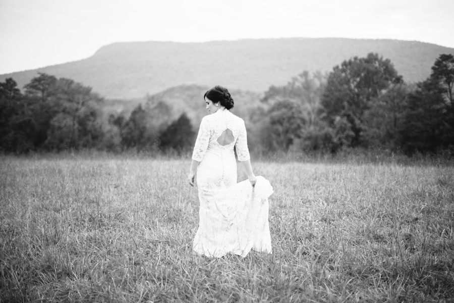 lookout mountain bridal portrait