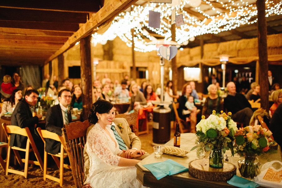 wedding reception at the barn at high point farms