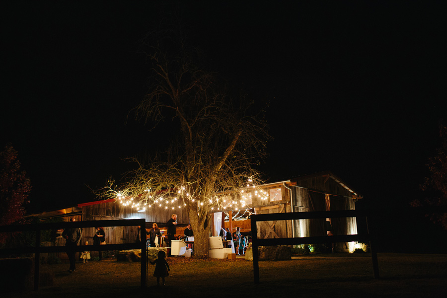 the barn at high point farms evening