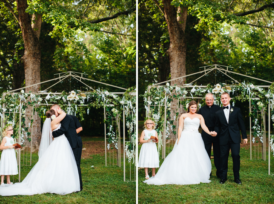 backyard knoxville wedding photographs