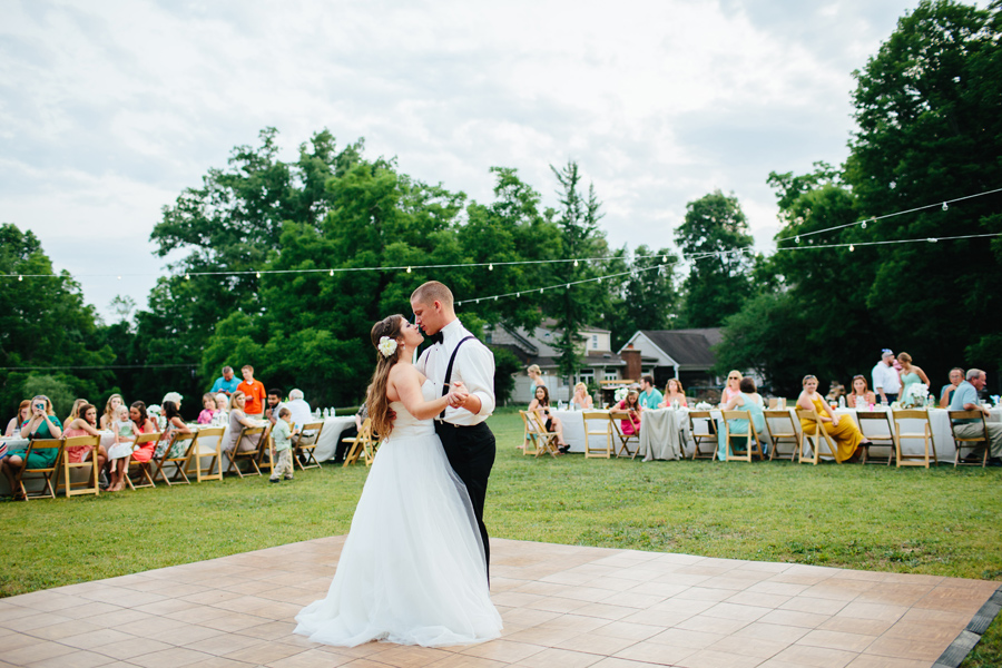knoxville backyard wedding reception
