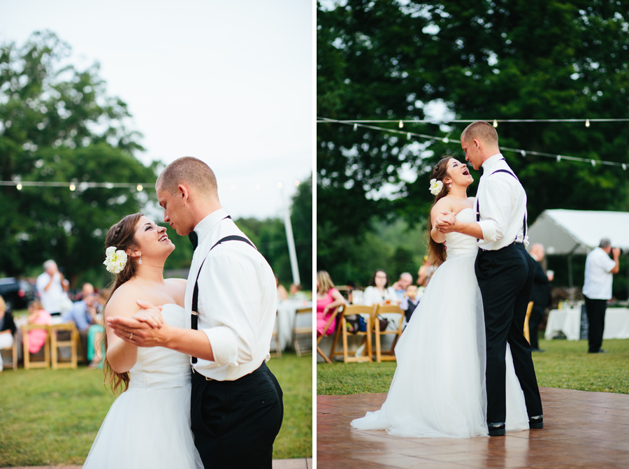 first dance backyard wedding