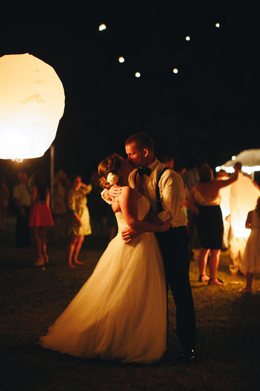 bride and groom lantern