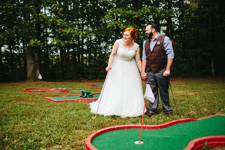 mini golf wedding
