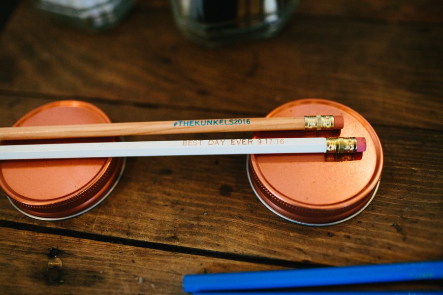 custom wedding pencils