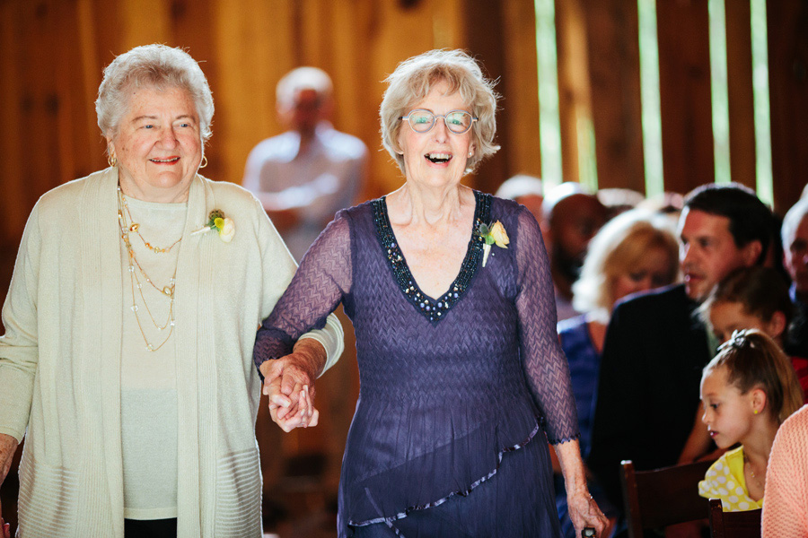 happy grandparents at wedding