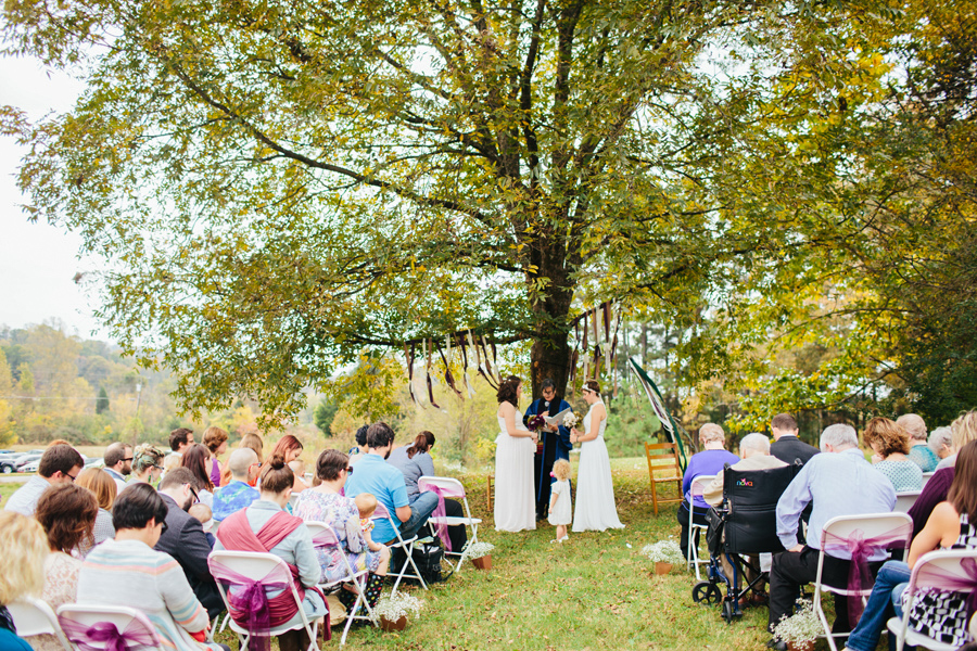 getting married under an amazing tree