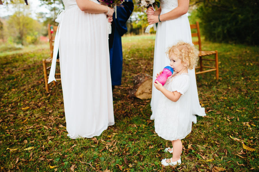 wedding with toddler
